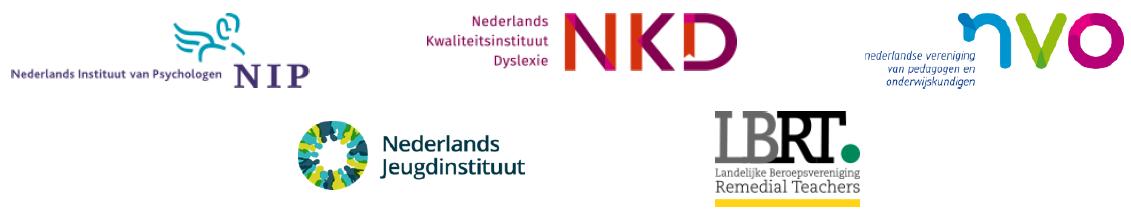 Afbeelding van de logo's van NIP, NKD, NVO, NJi, LBRT