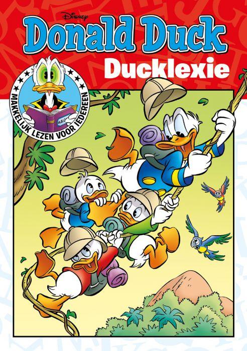Afbeelding van de cover van het Ducklexie vakantieboek 2020