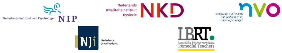 Afbeelding van de logo's van NIP, NKD, NVO, NJi en LBRT