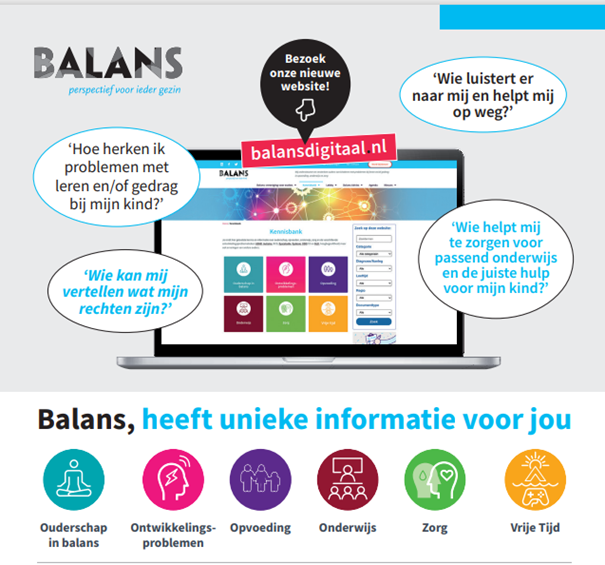 Afbeelding van de nieuwe website van Balans